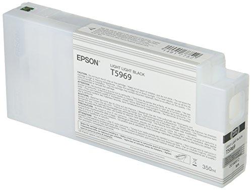 Epson T5969 C13T596900 - Cartouche d'encre d'origine - Gris clair (Light light Black) pour Stylus Pro - 350ml
