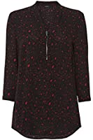 Womens Leopard Print Tunic Top - Ladies - Red - Size 10 12 14 16 18 20