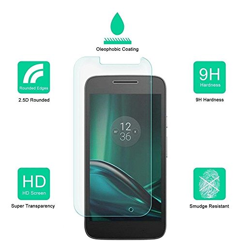for Moto G Play (4th Gen.) DASHMESH SHOPPING 2.5D Curved Edge 9H Hardness With Camera Cut Premium Tempered Glass Screen Guard Protector comes with Alcohol wet cloth pad, Dry cloth pad & clean micro fibre Dry cloth