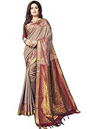 Craftsvilla Silk Saree with Blouse Piece (MCRAF88722373130_Maroon_Free Size)