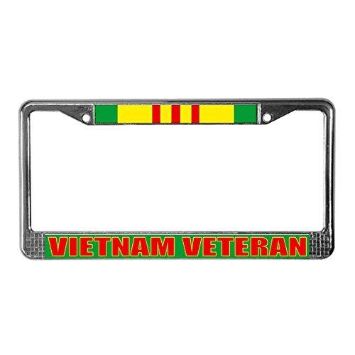 CafePress - Vietnam Veteran - Chrome License Plate Frame, License Tag Holder by CafePress - Tags Plate Frame