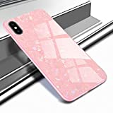 Caler Cover Compatibile con iPhone XR Custodia Protettiva in Vetro Temperato 9H 【AntiGraffio】 + Cornice Paraurti in TPU Silicone Morbido 【Antiurti】 3D Design Vogue Ultra Chic Bella