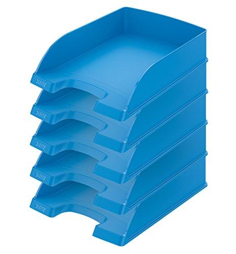 Leitz Plus Briefablage 70mm, 5Stück Höhe 70 mm hellblau