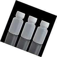 Lvcky 100 Piezas 20 ML PE plástico vacío pequeña Boca Graduado Laboratorio químico contenedor reactivo Botella