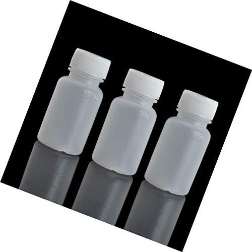 Lvcky 100 Stück 20 ml PE-Kunststoff leer mit kleinem Mund Abgestuft Labor Chemische Behälter Reagenzflasche Probenversiegelung Flüssigmedizin Flasche