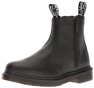 dr martens damen 2976 w zips chelsea boots blank amazon. Black Bedroom Furniture Sets. Home Design Ideas