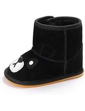 Omiky® Baby Mädchen Cartoon weiche Sohle Schnee Stiefel warme Krippe Schuhe Anti-Rutsch-Kleinkind Stiefel