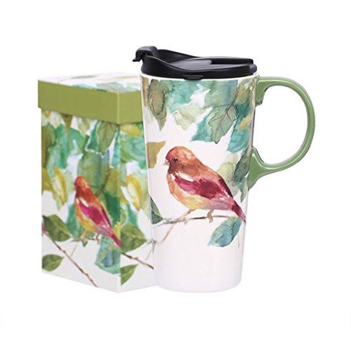 Vaisselle Pouces Céramique 6 Cadeau Haute 24 Mark À Une Housse Cup Tasse Capacité Green Coffret 3 Main Café KcJlF1