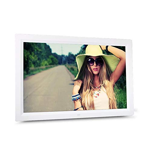 WEINANA HD Digital Photo Frame Electronic Album 17 Inches Front Touch Buttons Multi-Language LED Screen Pictures Music Video -