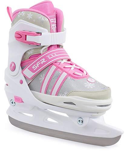 SFR Nova Verstellbare Schlittschuhe weiß-pink Kinder weiß-pink, 33-37
