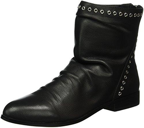 Buffalo London - 415-1412-1 Indios Leather, Botas A Media Pierna Con Relleno Ligero Mujer Negro (negro (negro 01))