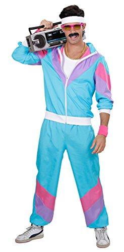 ,Karneval Klamotten' Kostüm Trainingsanzug 80er Jahre Mann Party Herrenkostüm Größe 50