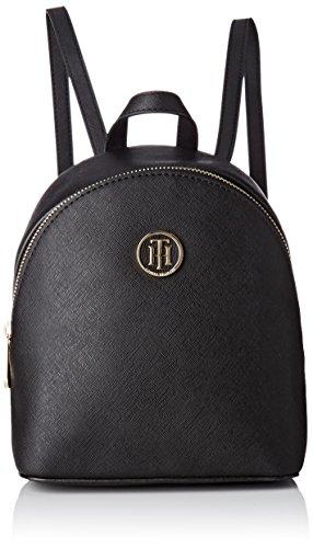 Tommy Hilfiger Damen Honey Micro Backpack Crossover Rucksackhandtasche, Schwarz (Black), 7.5 x 20 x 17.5 cm
