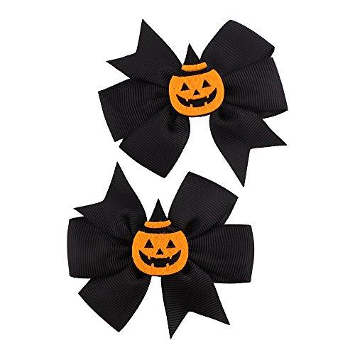 SEWORLD Baby Halloween Kleidung,Niedlich 1 Paar Mode Halloween Kleinkind Baby Kinder Mädchen Bowknot Haarnadel Kopfschmuck(D-b,3 Jahren-10 Jahren)