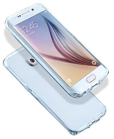 "itronik Full Body 360° für Apple iPhone 7 Plus 5,5"" Transparent Cover Hülle Case Schale Handy Tasche Schutz Etui Bumper - (iPhone 7 Plus 5,5"" blau) blau"
