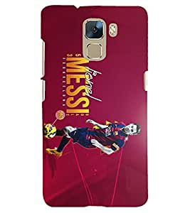 PRINTSHOPPII MESSI FANS Back Case Cover for Huawei Honor 7