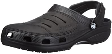 Crocs Yukon, Men's Clogs, Black (Black/Black), 6 UK