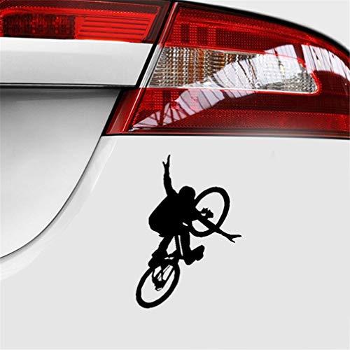 pegatinas de coches 12.1Cmx17.5Cm Hermosa bicicleta acrobacias decoración calcomanía del maletero del coche calcomanías para el coche para el coche portátil etiqueta de la ventana
