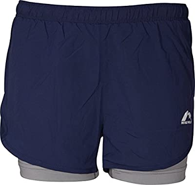 More Mile Conquer 2 in 1 Womens Running Shorts Twin Sports Short