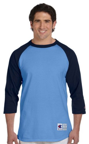 Everybody's Gay auf American Apparel Fine Jersey Shirt Hellblau/Navy