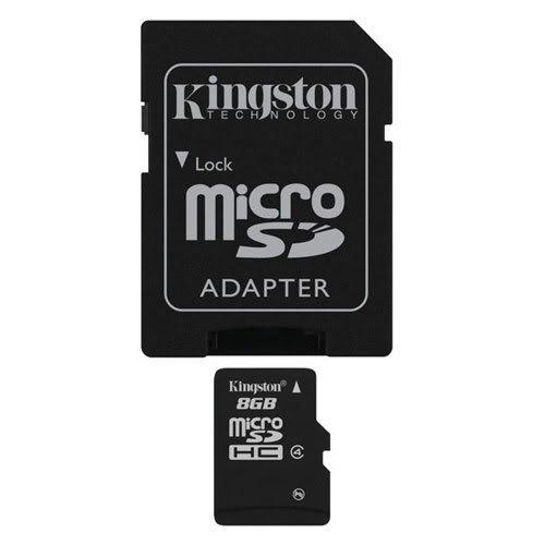 Professionelle MicroSDHC 8GB (8 Gigabyte) Karte f¨¹r Huawei Ascend 2 Telefon mit kundenspezifischer Formatierung und Standard SD Adapter. (SDHC Class 4 Certified)