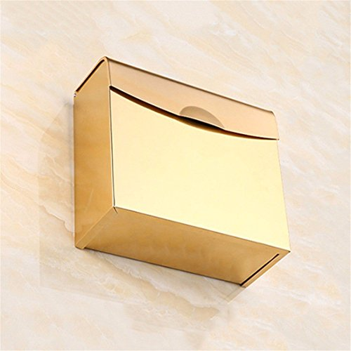 Im europäischen Stil Weihnachten aus rostfreiem Stahl, Sockel aus Kristall von Gold, Badezimmer alle Pendentif, Single und Double Door Bar Zahnbürste, WC-Papier Fort (Single-door Box)