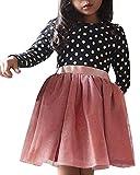 Minetom Fille 1 à 7 Ans Vetement Robe De Princesse Fille Chic Hiver Robe Fille...