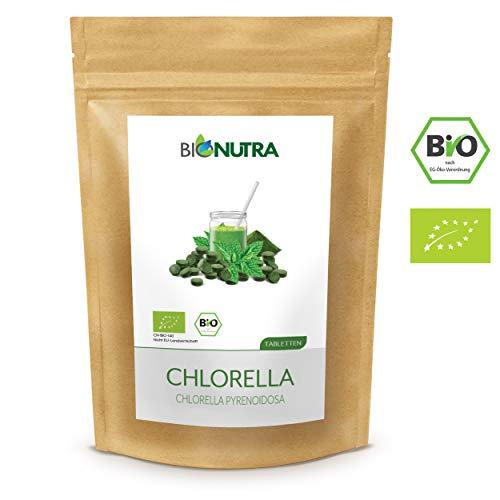 BioNutra® Chlorella-Presslinge 3000 x 250 mg Tabletten, 100% rein & natürlich, rückstandskontrolliert, membrangebrochen, nach EU-ÖKO-Standard kultiviert und hergestellt, 750 g Großpackung