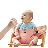 Lychee Baby Dining Chair Safety Seats with Straps, Toddler High Chair Harness Belt, Portable Feeding Booster Seat Strap for Travel/Home/Restaurants/Shopping