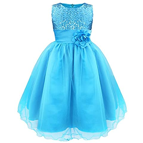 iEFiEL Girls Kids Child Sequins Party Wedding Bridesmaid Pageant Princess