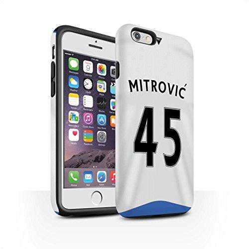 Offiziell Newcastle United FC Hülle / Matte Harten Stoßfest Case für Apple iPhone 6S / Pack 29pcs Muster / NUFC Trikot Home 15/16 Kollektion Mitrovic