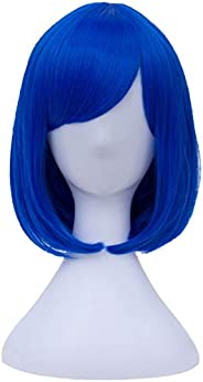 Wigs Short Bob Hair Wig with Bangs for Women Full Synthetic Wig 11 Inch BU029Y