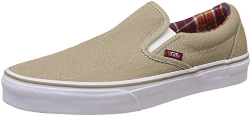 Vans Unisex Classic Slip-On Coriander and Rumba Red Sneakers - 10 UK/India (44.5 EU)  available at amazon for Rs.1979