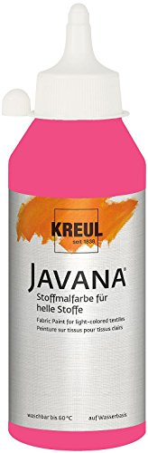 Javana 91336 - Textil Sunny Stoffmalfarbe, 250 ml Flasche, pink