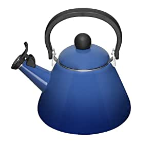 Le Creuset Kone Kettle with Whistle, 1.6 Litre, Graded Blue