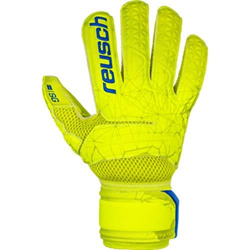 Reusch Herren Fit Control SG Extra Torwarthandschuhe, Lime/Safety Yellow, 10