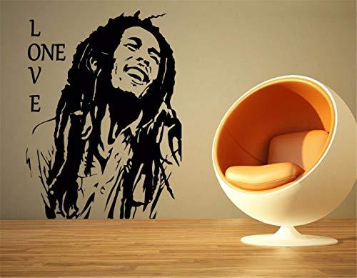 inderzimmer Bob Marley Reggae Rasta Jamaika Schablone Aufkleber Wand Home Room Decorative ()