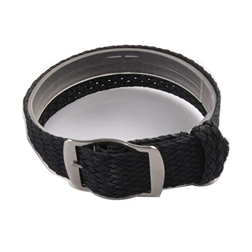 Uhrenarmband NATO-Strap 20mm NATO-Armband aus Robustem Ballistic Nylon in Farbe schwarz Uhr Armband