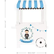 Mery & Lola Party Deco Carrito DE CHUCHERÍAS de Cartón COMUNIÓN NIÑO, Medida XL 132