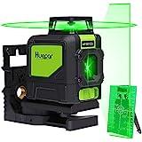 Huepar 901CG 1 x 360 Livella Laser, Laser Level Verde Autolivellante con Linea Orizzontale a 360 Gradi, Con la Modalità Impulso Esterno, Campo di Lavoro 25m, incluso Supporto Magnetico