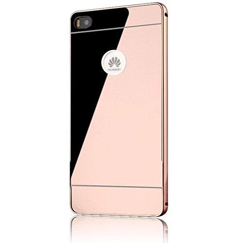 sunnycaser-coque-etui-luxe-huawei-p8-lite-4g-rose-ultra-mince-miroir-style-housse-retour-hard-case-p