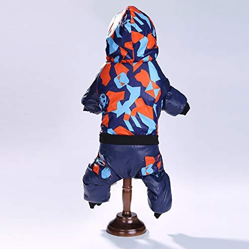 MYYXGS Abbigliamento Mimetico per Cani Abbigliamento per Cani Cappotto Invernale in Cotone a Quattro Zampe con Cappuccio Casual Mimetico per Cani di Piccola e Media Taglia L