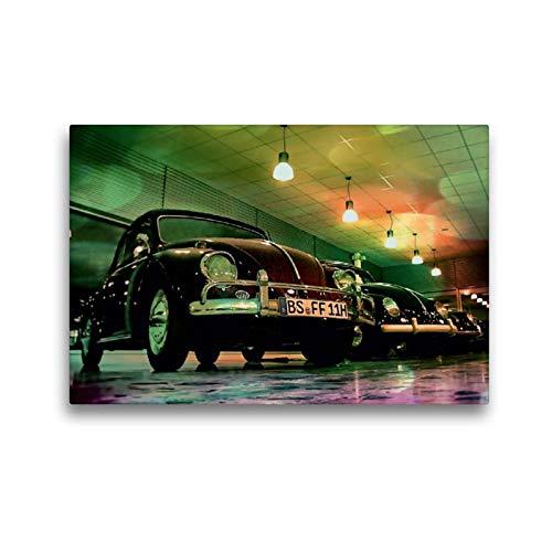 Calvendo Premium Textil-Leinwand 45 cm x 30 cm quer, Oldtimer aus Deutschland | Wandbild, Bild auf Keilrahmen, Fertigbild auf echter Leinwand, Leinwanddruck: VW Käfer Mobilitaet Mobilitaet