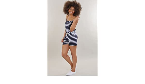 5d246cc4a0 Womens Nautical Playsuit  Amazon.co.uk  Clothing