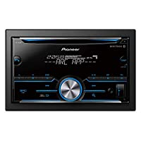Pioneer FH-S505BT Standard Car Audio Stereo, CD/USB/AUX Player, iOS/Android/Bluetooth/Sub-woofer Control - Black (Pack of1)