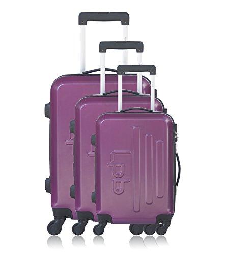 Les P'tites Bombes Set di valigie, Violet (viola) - BD-12197