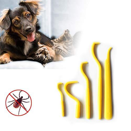 Zeckenhaken Zeckenzange,Kunststoff Zecken Twister Haken Flohentferner Haken Haustier Hund Katze Heimtierbedarf Zeckenentfernung für Hunde Katze Nager Mensch