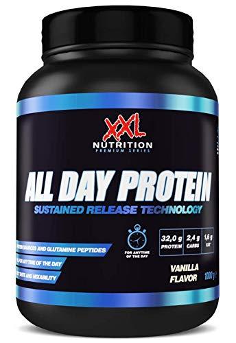 XXL Nutrition All Day Protein | Mehrkomponenten Protein Mit Hydrolysat | Vanille 1000g