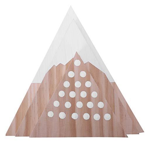 SODIAL Nordisch Holz Kl?TZE Spielzeug Holz Land Kindergarten Holz Berg Dekor Ornamente Kinder M?Bel Spielzeug Kinder Zimmer Dekoration 3 Teile/Satz