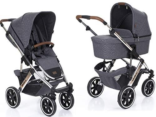 ABC Design Kombi-Kinderwagen Salsa 4 Air - Diamond Special Edition - inkl. Babywanne & Sportsitz - Asphalt